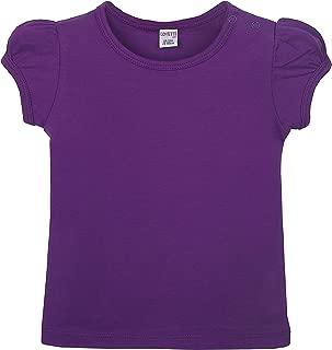 Lovetti Baby Girls' Basic Short Puff Sleeve Round Neck T-Shirt