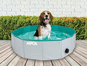 "ASPCA Foldable Outdoor Pet Bath Dog Pool for Dogs Cats, 31.5""x31.5""x8"", Gray (AS21087)"