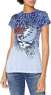 الزهور الميتة من Liquid Blue Women's Grateful Steal Your Face Dead Flowers Gr