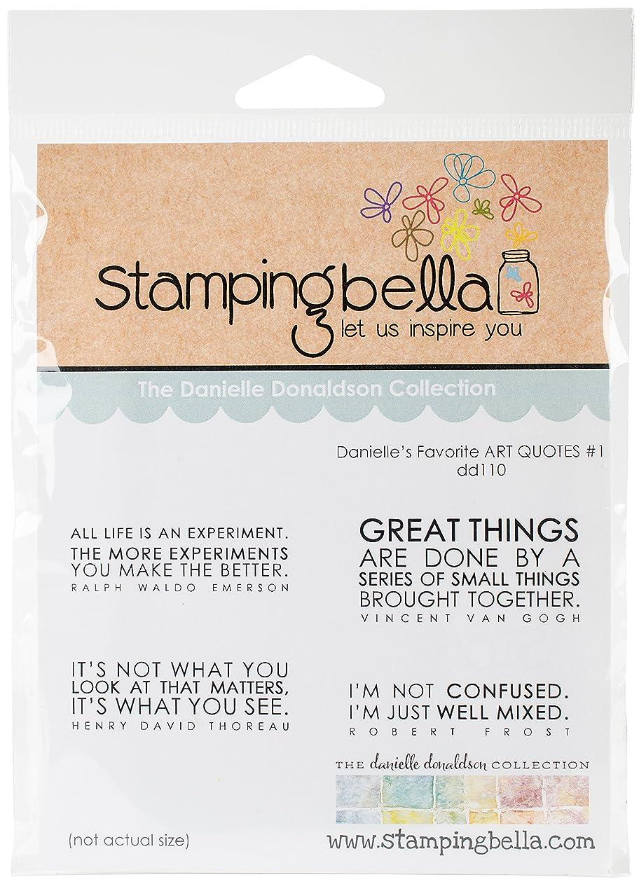 Stamping Bella DD110 Cling Stamps-Favorite Art Quotes #1 kvtpjdfikxe76462