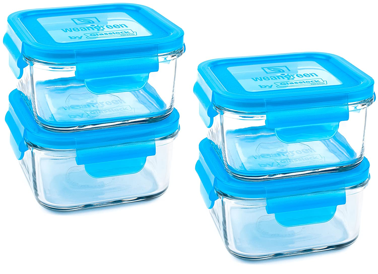 Wean Green Blueberry Lunch Cubes Reusable Food Storage Container Set