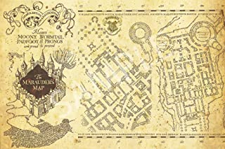 Best Print Store - Harry Potter Inspired - Hogwarts, The Marauder's Map Poster (16x24 inches)