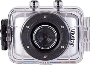 Vivitar DVR785HD-BLU 5MP Pro Waterproof Action Camcorder with Case and Mounts Video Camera with 2-Inch LCD Screen (Color May Vary)