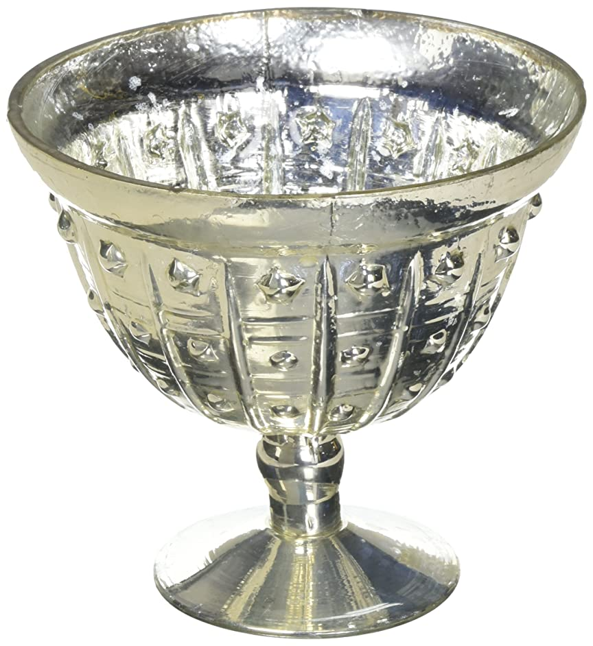 Afloral Baleri Mercury Glass Compote Bowl in Silver Gold - 5