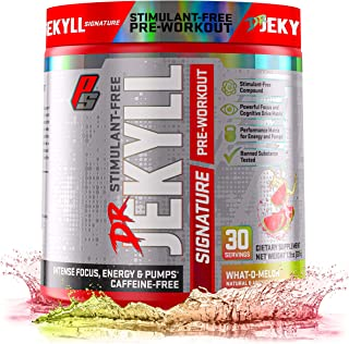 ProSupps® Dr. Jekyll® Signature Pre-Workout Powder, Stimulant & Caffeine Free, Intense Focus, Energy & Pumps, (30 Servings, What-O-Melon)