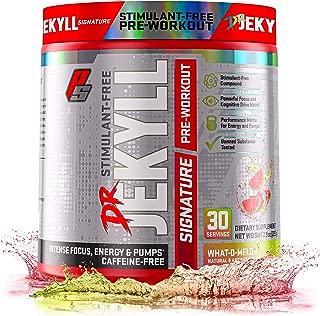 Dr. Jekyll Signature Pre-Workout Powder, Stimulant & Caffeine Free, Keto Friendly, Intense Focus, Energy & Pumps, 30 Servings (What-O-Melon)