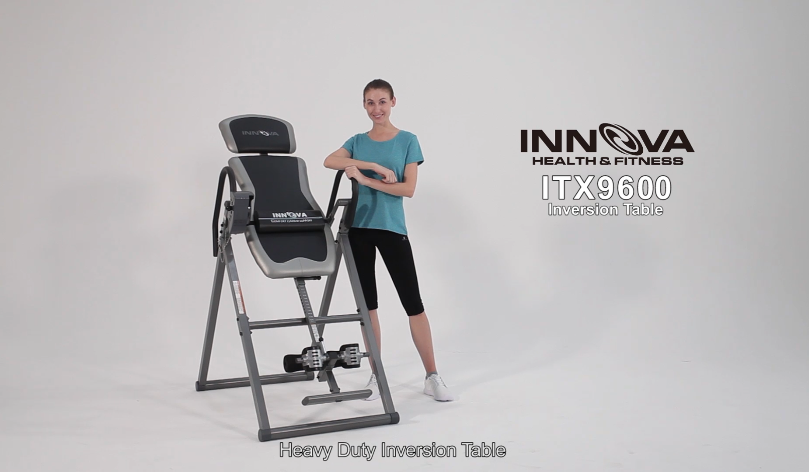 ITX9600 Heavy Duty Inversion Table with Adjustable Headrest /& Protective Cover