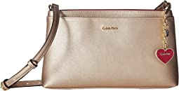 Calvin Klein Novelty Saffiano Top Zip Crossbody
