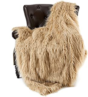 FFLMYUHUL I U Super Soft Faux Fur Throw Blanket & Bedspread Mongolian Fur Blanket Long Faux Fur Blanket Decorative for Bedroom Sofa Floor MT779-A-brown