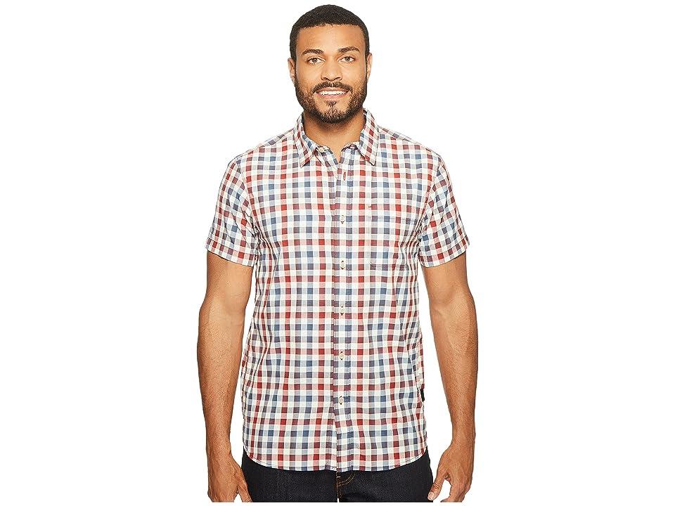The North Face Short Sleeve Getaway Shirt (Rage Red Plaid (Prior Season)) Men