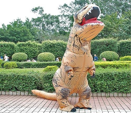 Envío y cambio gratis. Disfraz Inflable de Dinosaurio T Rex para para para Adultos y Niños, Disfraz de Cosplay para hombres y mujeres, Dibujos Aniñaños de Dinosaurio  promociones de equipo