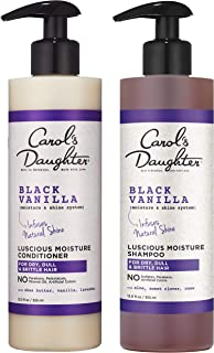 Carol's Daughter Black Vanilla Moisture & Shine Shampoo and Conditioner Set For Dry Hair and Dull Hair, Sulfate Free Shamp...