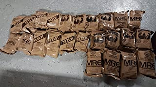 Army Surplus MRE Singles from 2019 Case Meals Ready to Eat. US Military Survival Food