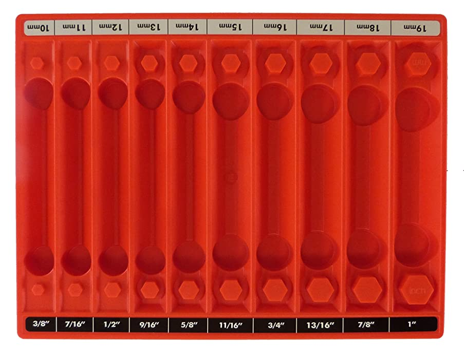 Tool Sorter Socket Organizer Red