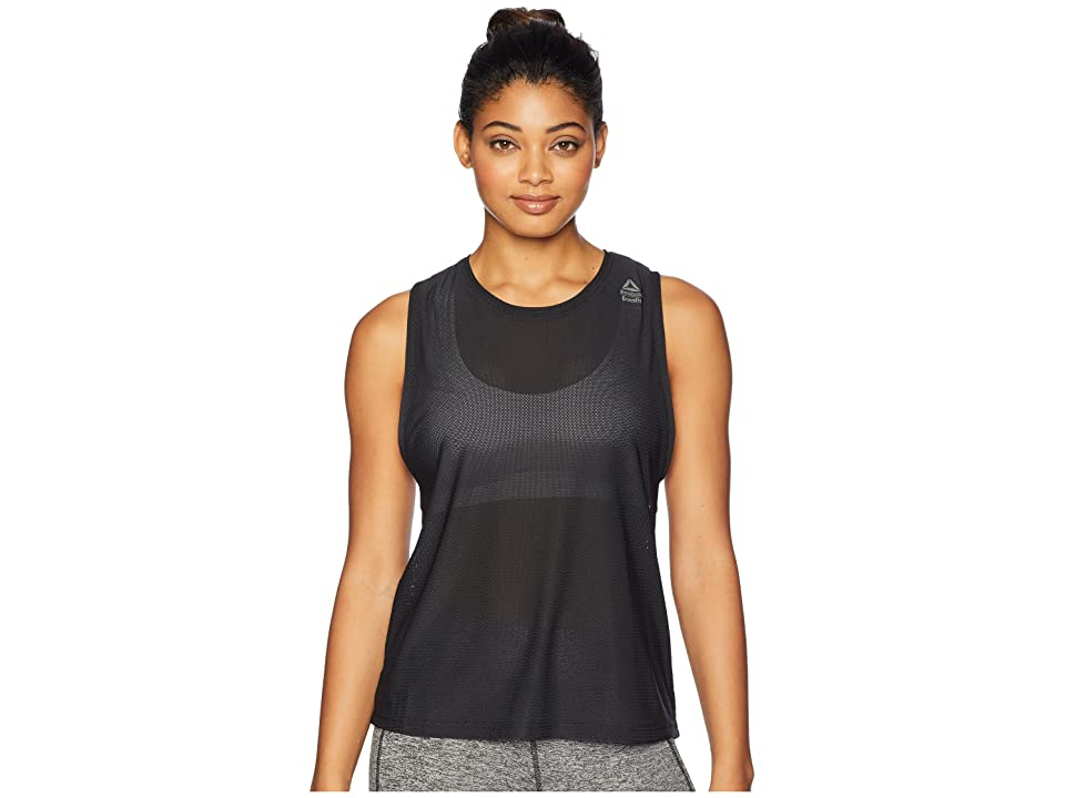 Reebok CrossFit Jacquard Tank Top (Black) Women