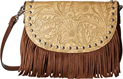 M&F Western - Tooled Fringe Shoulder Bag