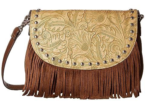 Tooled Fringe Shoulder Bag