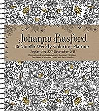 Johanna Basford 2017-2018 16-Month Coloring Weekly Planner Calendar