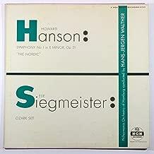 Howard Hanson: Symphony No. 1 in E Minor, Op. 21