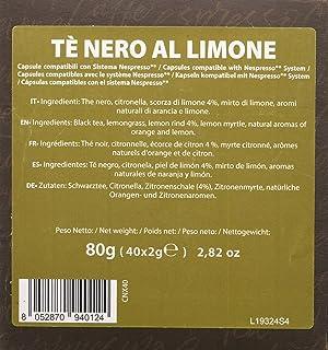 comprar comparacion Note D'Espresso - Cápsulas de té negro al limón exclusivamente compatibles con cafeteras Nespresso*, 2g (caja de 40 unida...