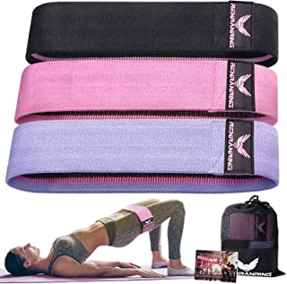 RENRANRING Resistance Bands for Legs and Butt, Workout Bands Wide Exercise Bands Fabric Booty Bands Fitness Bands, Glute B...