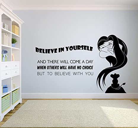 THE LION KING movie quote wall decal kids bedroom nursery wall sticker
