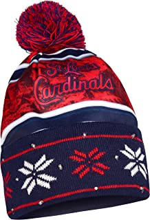 Forever Collectibles MLB St. Louis Cardinals Wordmark Light Up کلاه بافتنی قرمز ، 9 ""