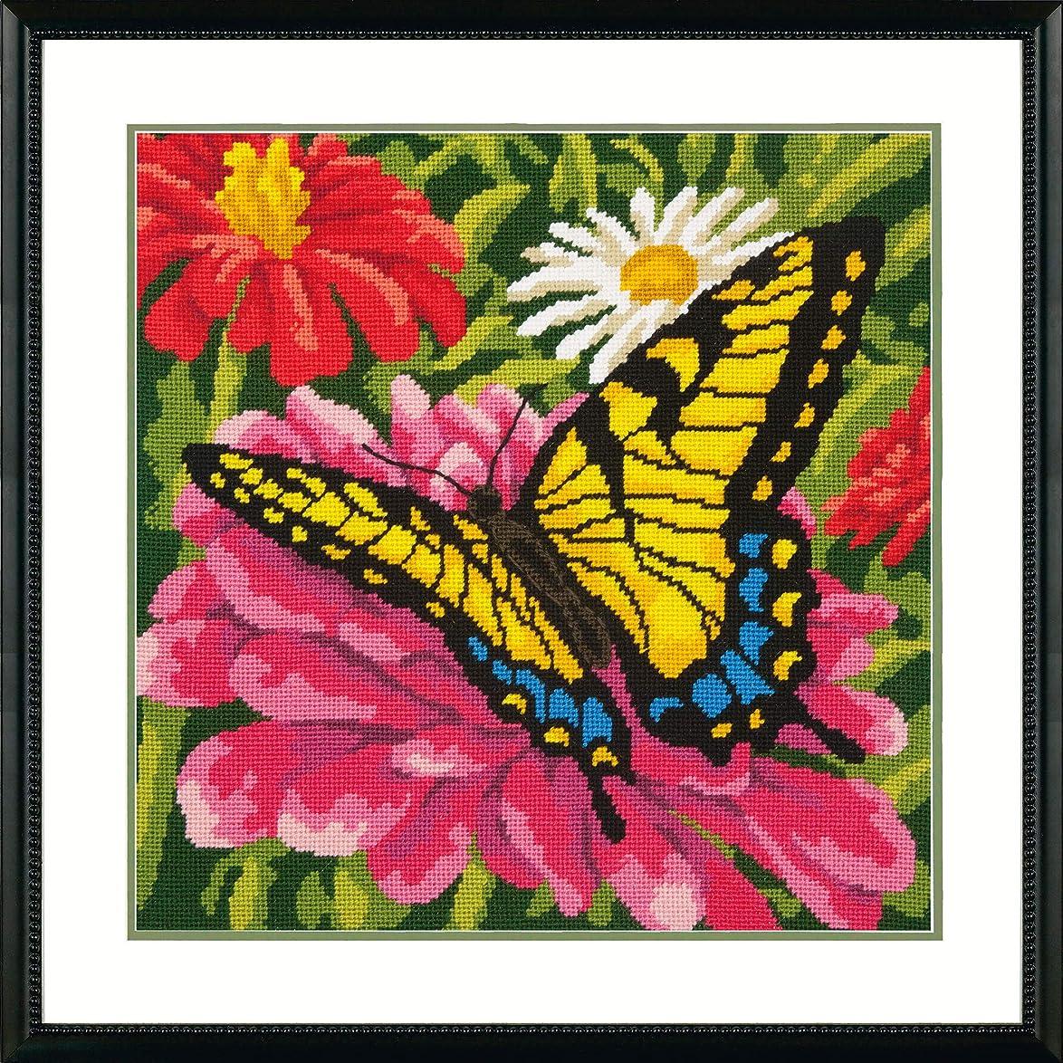 Dimensions Needlepoint Kit, Butterflies and Zinnias Floral Needlepoint, 14'' x 14'' zzjoadxsjdcuyjo8