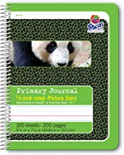 Pacon Primary Composition Spiral Book 5/8-in. and Picture Story Ruled Ruled, 100 Sheets, Green (2434)