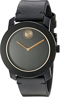 Best movado mens watches leather band Reviews