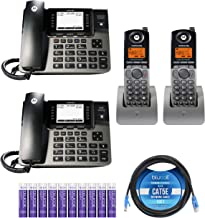 $279 » Motorola ML1002S (ML1000 x1,ML1100 x1) DECT 6.0 4-Line Phone System with Digital Receptionist and Answering System Bundle with ML1200 x2 Cordless Handset, Blucoil 10-FT Cat5e Cable, 10 AAA Batteries