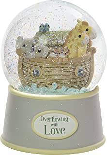 Precious Moments Overflowing with Love Noah's Ark Musical Resin Nursery Decor Snow Globe