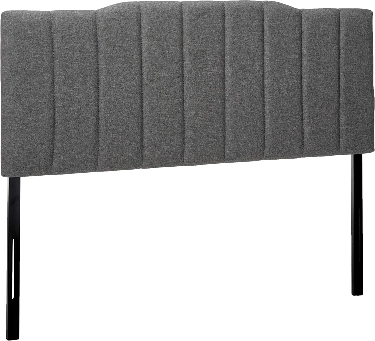 Zinus Upholstered Channel Stitched Headboard in Grey, Full
