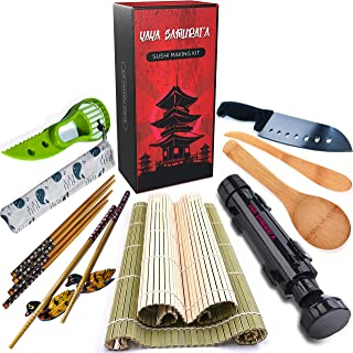 DIY Sushi Making Kit by YaYa Samurai'a - Professional Kitchen Utensils&Gadget Tools Set for Instant, Homemade Japanese Food - Easy to Use, Great for Cooking Beginners, Chefs, Gifts, Kids and Party