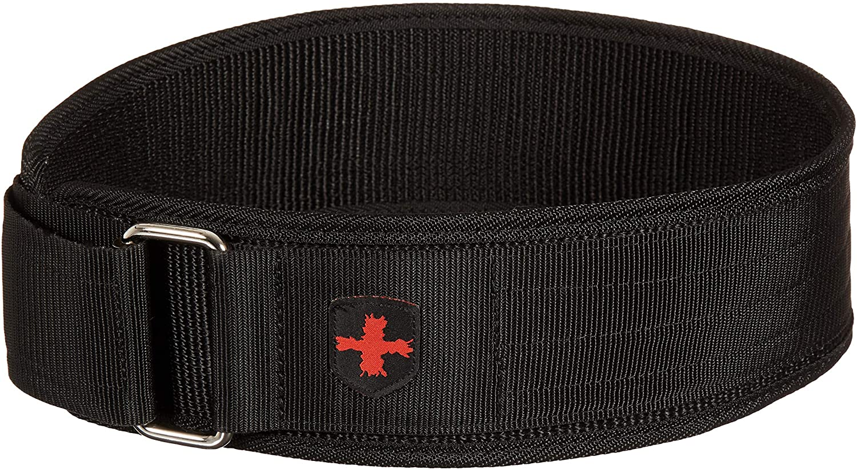 Harbinger 360890 4-Inch Nylon Weightlifting Belt, Medium,Black : Sports & Outdoors