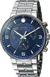 Movado Men's 0607129 SE Pilot Analog Display Swiss Quartz Silver Watch