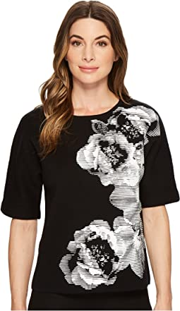 Calvin Klein - Floral Graphic Short Sleeve Sweater