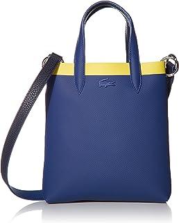حقيبة تسوق انا عمودية بالوان متباينة من لاكوست