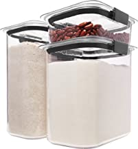 Rubbermaid Brilliance Pantry Airtight Food Storage Container, BPA-Free Plastic, 6-Piece