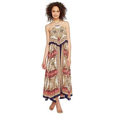 Laundry by Shelli Segal Printed Layered Dress (Bright Rose) Women