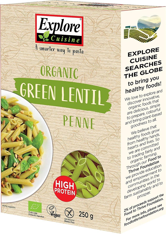 Explore Cuisine Pasta de lentejas verdes orgánicas, deliciosas, veganas a base de plantas, con alto contenido de proteínas, sin gluten, fácil de ...