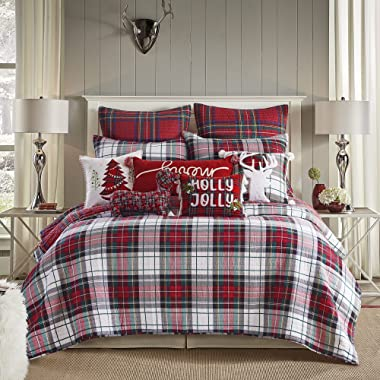 Levtex home Thatch Home Spencer Plaid Spencer Plaid Quilted Standard Sham (Pack of 2) (26x20in.) - Reversible - Cotton/Poly