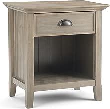 Simpli Home 3AXCACA-02GR Acadian Solid Wood 24 inch Wide Rustic Bedside Nightstand Table in Distressed Grey