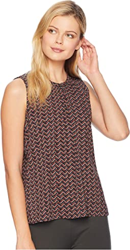 Chevron Sleeveless Woven Top