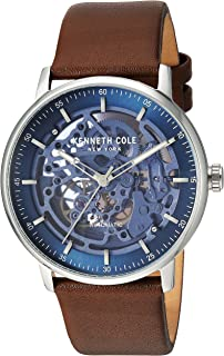 Kenneth Cole New York Men's 'Auto' Automatic Stainless Steel and Leather Dress Watch