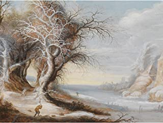 Wee Blue Coo LTD PAINTING LEYTENS WINTER LANDSCAPE WITH WOODCUTTER POSTER ART PRINT HP3347