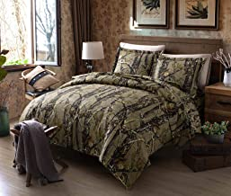 Chezmoi Collection Salem 2-Piece Forest Woods Duvet Cover Set - Nature Camo Tree Leaves Printed Soft Microfiber Comforter ...