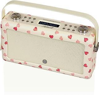 VQ Hepburn Mk II DAB & DAB+ Digital Radio with FM, Bluetooth & Alarm Clock – Emma Bridgewater Pink Hearts