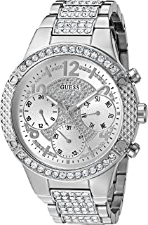 GUESS Womens Stainless Steel Crystal Accented Watch