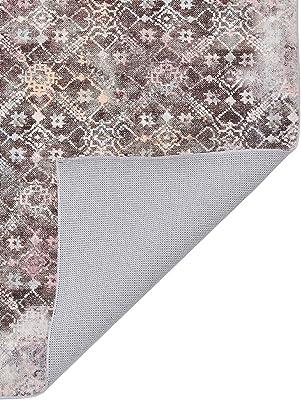 Homemania Tapis Imprimé Antique Shapes Impression Multicolore Coton Polyester 80 x 150 cm
